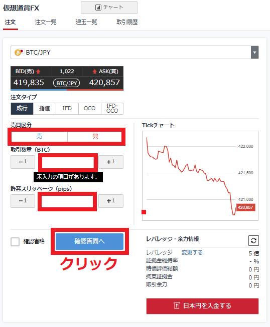 GMOコイン 仮想通貨FX 売買