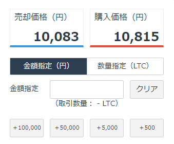 GMOコイン LTC/JPY